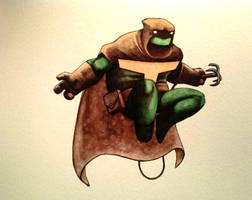 Turtle Titan watercolor by ChainsawTeddybear