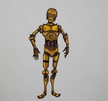 C3PO sketch by ChainsawTeddybear