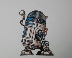 R2D2 sketch by ChainsawTeddybear