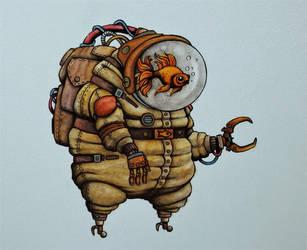 Space Goldfish by ChainsawTeddybear