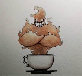 A Coffee Genie by ChainsawTeddybear