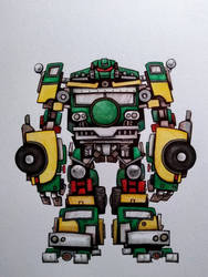 Transformers/TMNT mashup: Sewershell by ChainsawTeddybear