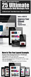 Responsive Web Devices Mokcups by graphiccon