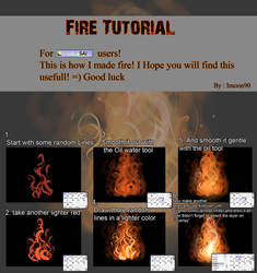 Fire Tutorial by ImoonArt