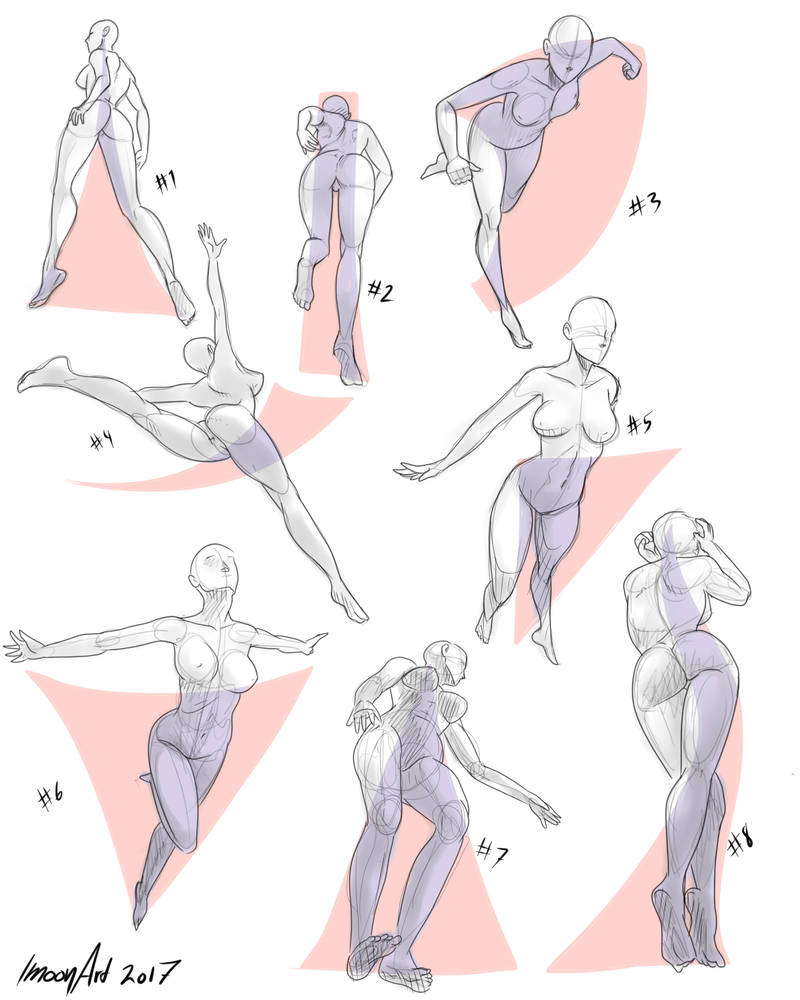 perspective pose references # 5 by ImoonArt on DeviantArt
