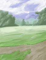 Anime Style Park Background by wbd