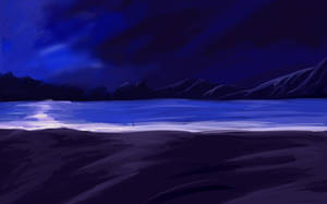 Another Anime Night Beach BG by wbd