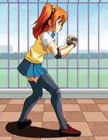 School Fighter Honoka by wbd
