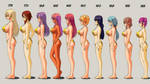 A Brand New Cast Height Chart by wbd