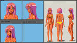 Violet Isotope: Model Sheet by wbd