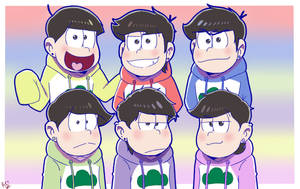 Matsuno brothers (in my version) by ShanaCookie