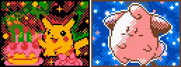 Pokemon TCG-Style Birthday Pikachu + Cleffa by Neslug