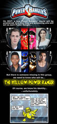 Yellow Power Ranger is revealed! by TwoBrainFarts
