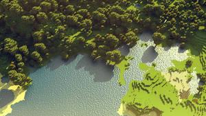 Minecraft: lake by cuberon