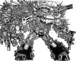 God of Guns by ckirkillustr8