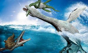 Rhomaleosaurs by ministerart