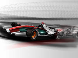 F1 car of future by auto-concept