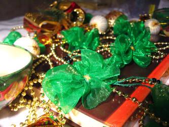Green bows by Anita-dragon-fly