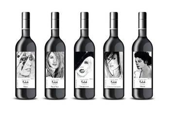 Celeb Wine Labels by CLK-Art-N-Designs