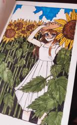 sunflowers  by Skylar-Kohai