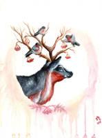 bullfinches by zarielcharoitite