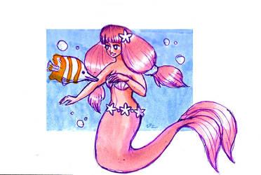 MerMay Day 02: pink mermaid by zarielcharoitite