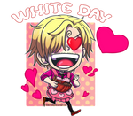 Happy White Day Sanji by Honeychamaa