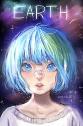 Earth-chan (+SPEEDPAINT) by Antama