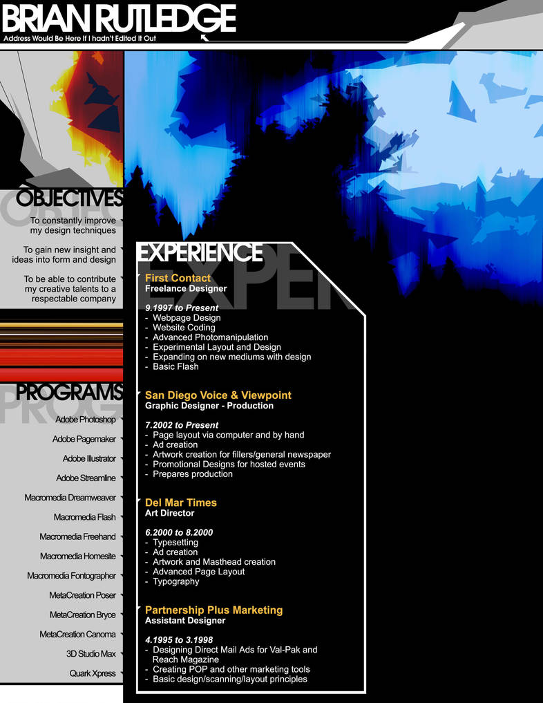Resume by 4Square0000
