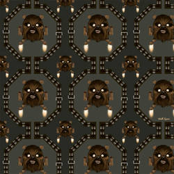 Pattern Chewbacca - Space Invader by GeekLangel