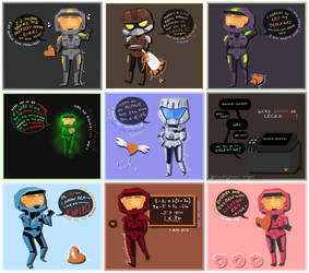 Red Vs Blue Favourites By Floatingplatypus On Deviantart
