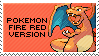 pokemon fire red version stamp by sable-saro
