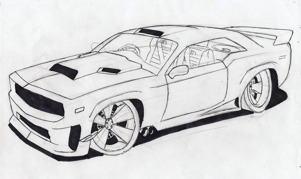 Muscle Car Outline By Luis4646 On Deviantart
