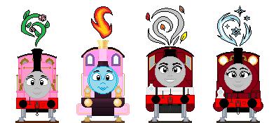 Seasonal Engine Maidens by Aqua-SuN