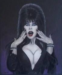 Elvira Mistress of the Dark  by timscottart