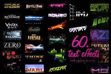 60 Premium Layer Styles by MrSuma