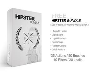 FREE HIPSTER BUNDLE: 35 Actions / 50 Brushes / ... by MrSuma