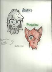 Warrior Cat's Ashfur And Squirrelflight by ravincat101