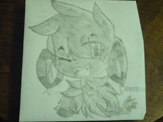 Quick drawing of Felix the cat my main oc by ravincat101