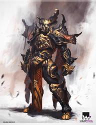 Warrior by Nookiew