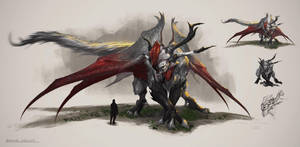 Basilisk, creature concept by Nookiew