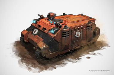 Rhino - copyright Games Workshop 2014 by Nookiew