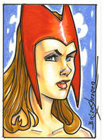 Scarlett Witch Card by gravyboy
