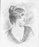 Portrait sketch 1 by gravyboy