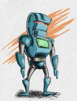 Robot Warm Up Sketch by gravyboy