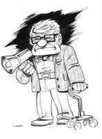 daily sketch Carl from Up by gravyboy