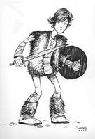Daily sketch Hiccup from How to Train Your Dragon by gravyboy