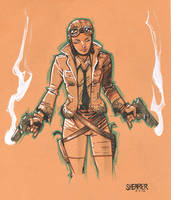 Daily Sketch: Pilot Girl by gravyboy
