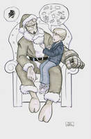 Hellboy Santa by gravyboy