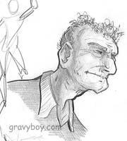 old man sketch by gravyboy